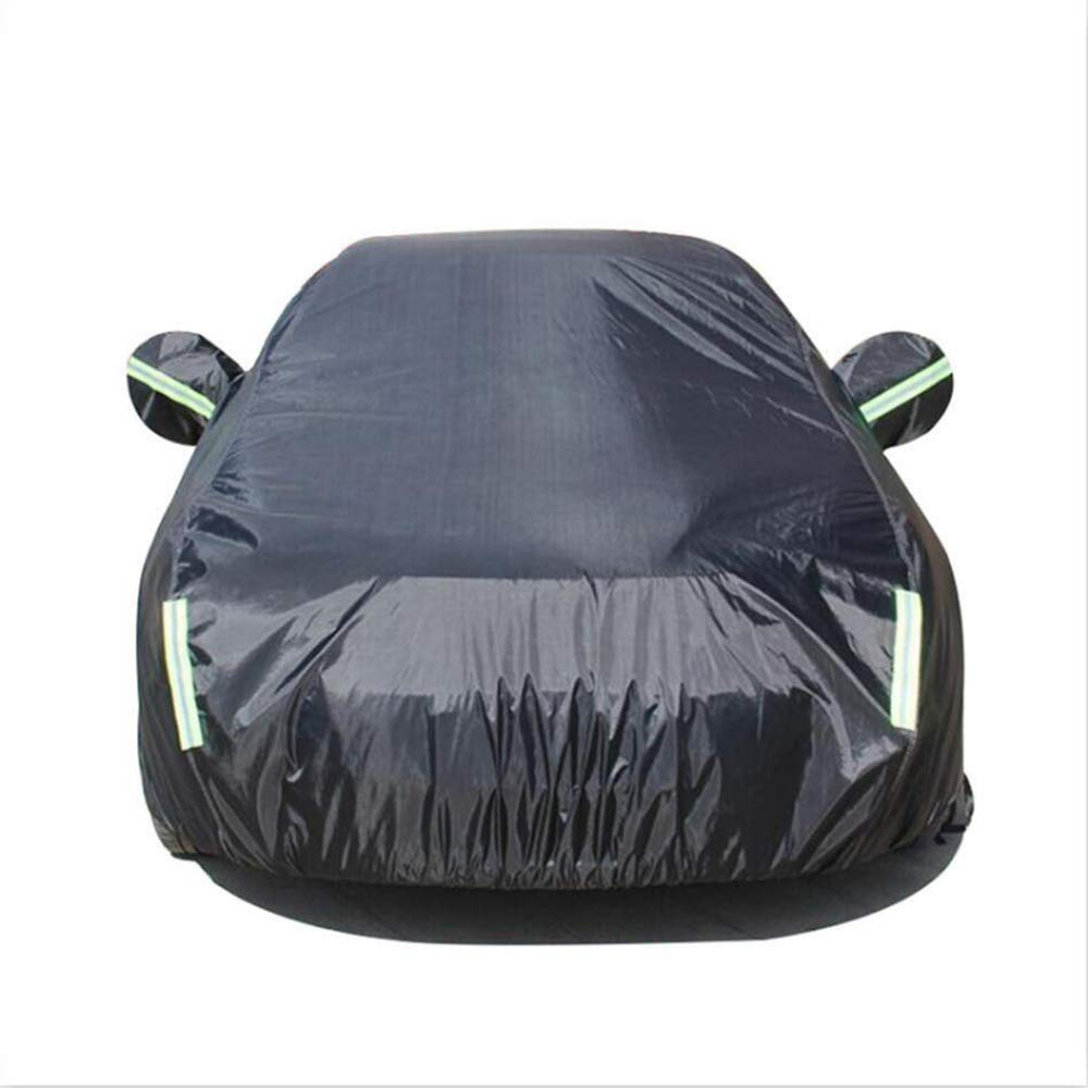 HRF0FCLH Full Coverage of The car//Durable Waterproof Black Car Cover Compatible with GM Chevrolet Series: Cruze Camero SAIL Aveo Epica Malibu Captiva LOVA,Black2,Camero