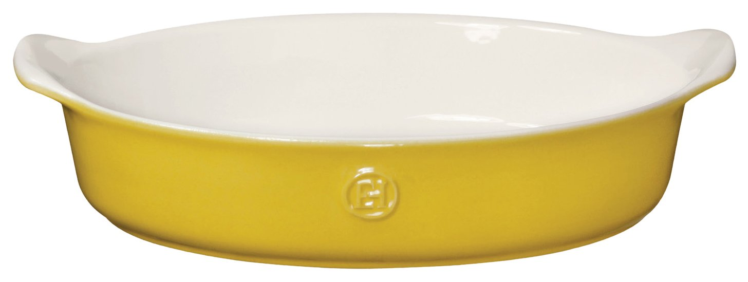 Emile Henry 859029 HR Ceramic Individual Oval Baker, Leaves