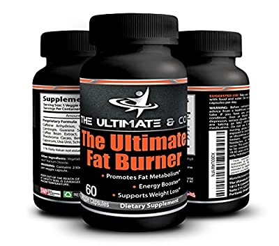 Fat Burner Weight Loss Supplement - Metabolism Booster - Vegetarian Approved - Garcinia Cambogia - Green Coffee Bean - For Men and Women - The Ultimate Fat Burner