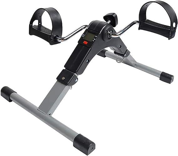 HSRG Exerciseur de pédale Pliable, Mini pédaleur de vélo Fixe avec Affichage électronique, pour Personnes âgées
