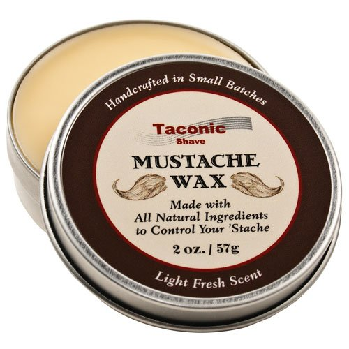 Taconic Shave Premium Mustache Wax – All Natural – Artisan Made in the USA – 2 Oz Size (Double the size of most others)