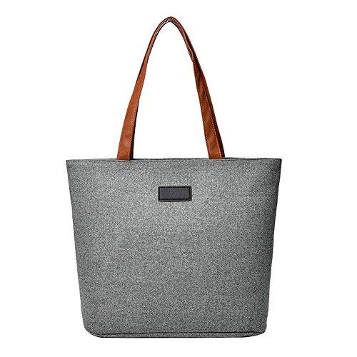 Large Totes Casual Grey Widewing Shopping Handbag Shoulder Beach Bags Women Canvas F6nz4