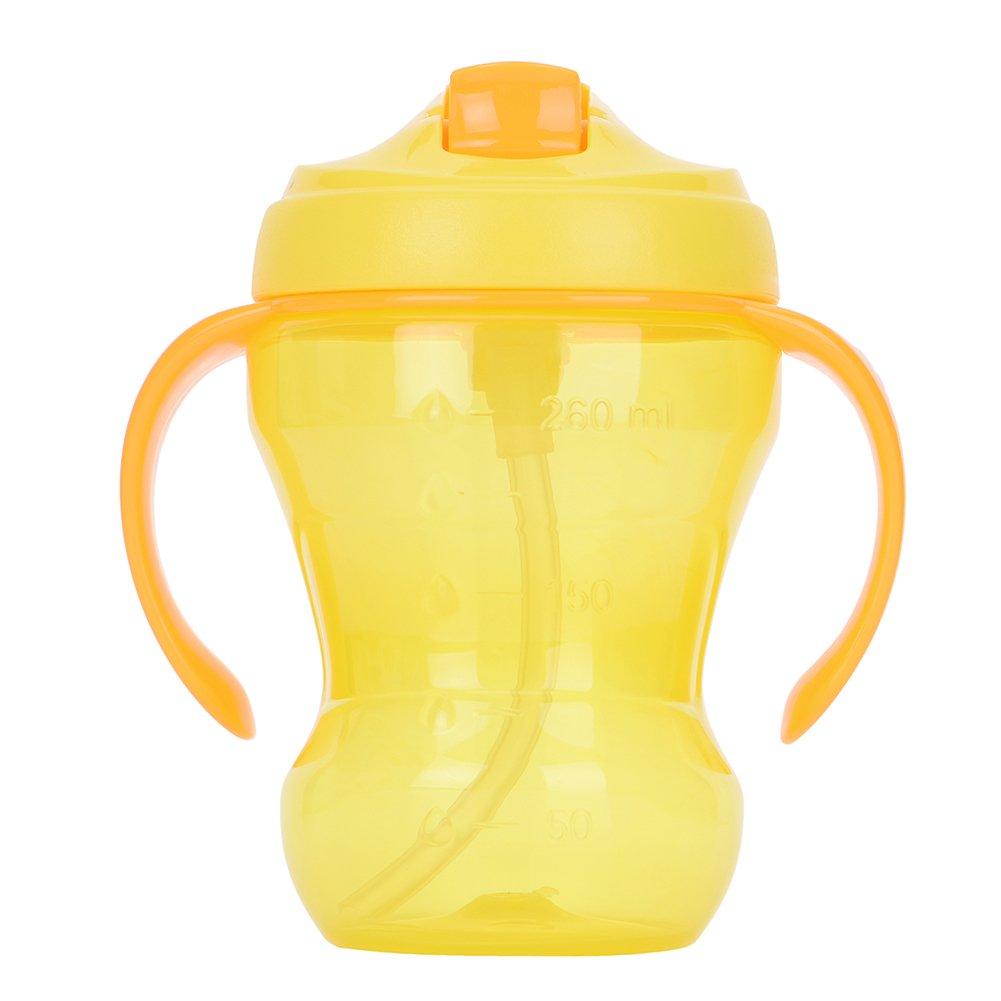 Samber 260ml Bébé Biberon Bébé Tasse avec Pipette Anti-colique -orange
