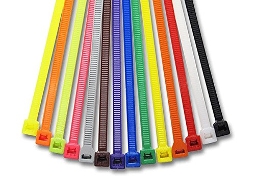 4 Inch Colored Cable Tie Kit 100 Pcs Per Color/1000 Pc Kit