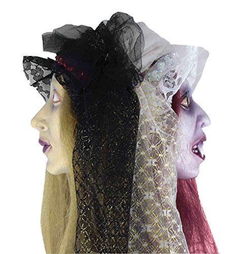 [Forum Novelties Two-Faced Zombie Bride Hanging Head, Multicolored] (Hanging Halloween Props)