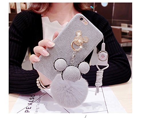 Tianyuanxuan Iphone 7/ 8 Plus Bling Silicone Case for Girls Ring Phone Cover Non-slip Soft Shell for Iphone7/ 8 Plus Protector-Gray