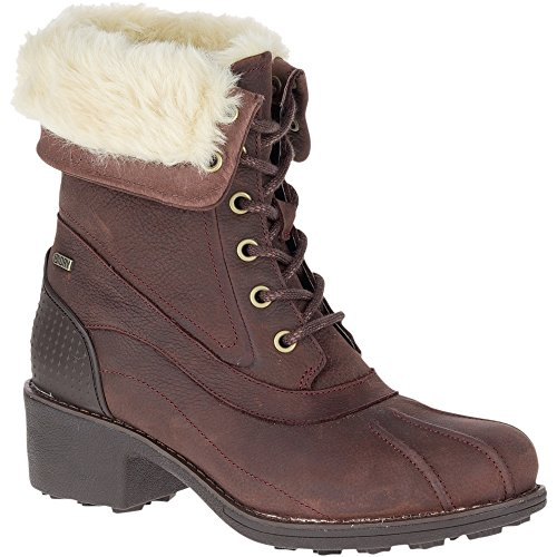 Merrell Women's Chateau Mid Lace Polar Waterproof Snow Boot, Brunette, 8 M ()