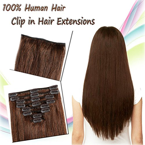 24''Long / 120g Clip in Hair Extensions Remy Human Hair