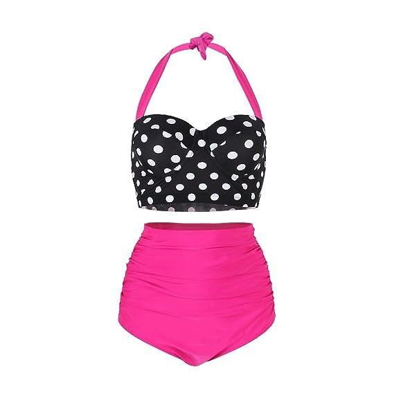 FeelinGirl Bikini para Mujer Lunares Estampados Push Up Vintage ...