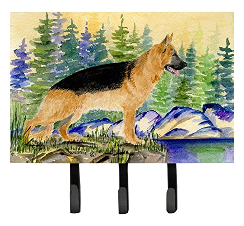 German Shepherd Leash Hook - Caroline's Treasures SS8129TH68 German Shepherd Leash Holder or Key Hook, Large, Multicolor