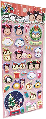 JENG TAIR Disney Tsum Tsum 3D Puffy Stickers for Kids and Toddlers Variety 3 Pack Feature