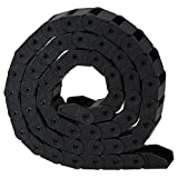 CNBTR Black Nylon CNC Machine Tools Cable Drag Chain Wire Carrier (10x15mm, R28)