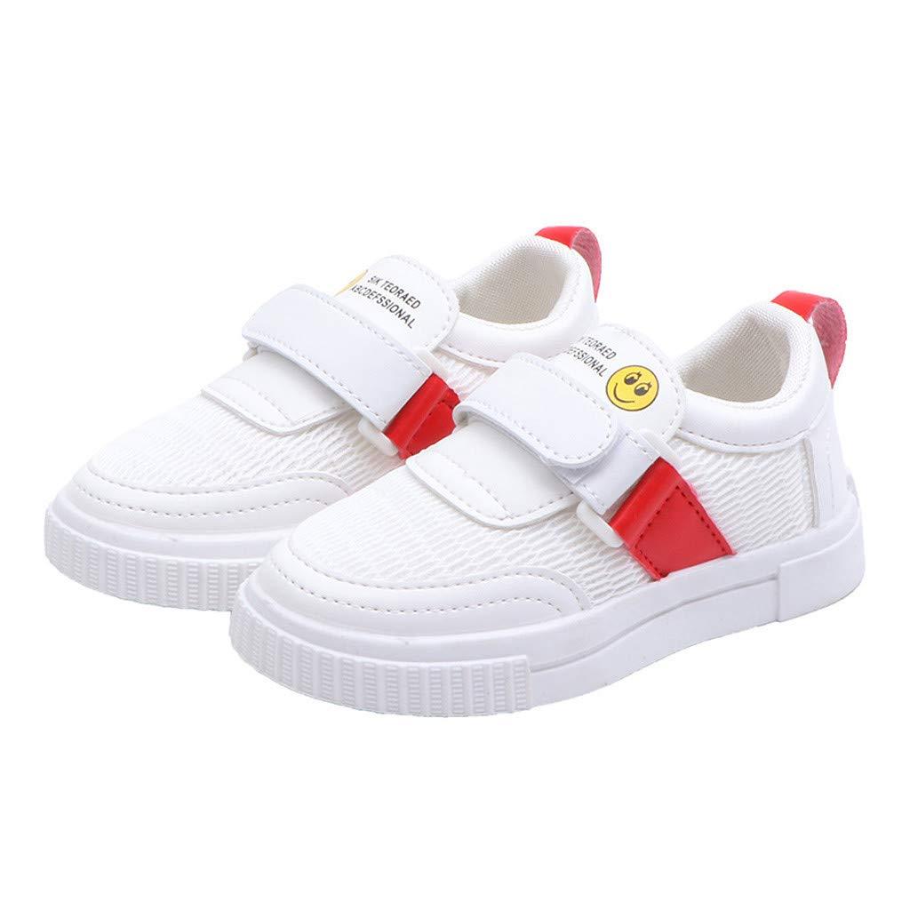 DETALLAN Infant Kids Baby Boys Girls Cartoon Sport Mesh White Shoes Sneakers//Baby Breathable Mesh Shoes Hook /& Loop Sneakers.