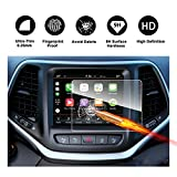 2014-2018 Jeep Cherokee Uconnect Touch Screen Car Display Navigation Screen Protector, RUIYA HD Clear TEMPERED GLASS Car In-Dash Screen Protective Film (8.4-Inch)