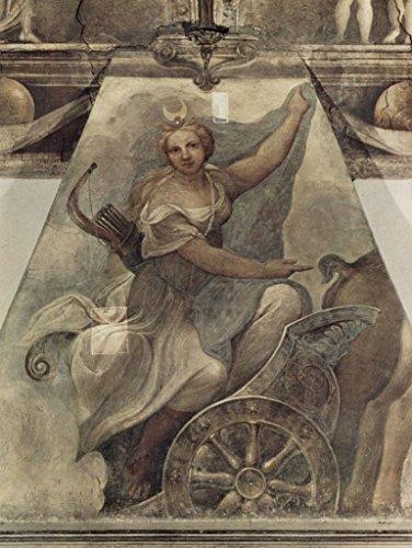 Lais Puzzle Correggio - Fresco en Nonnekloser San Paolo en Parma, escena junto a la chimenea: Diana en el coche 2000 piezas