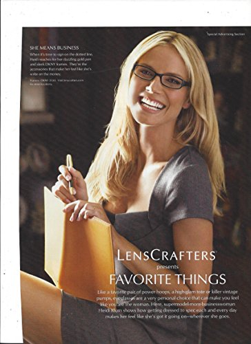 Print Ad   Set With Heidi Klum For Lenscrafters Glasses