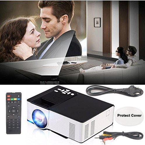 Dax-Hub Proiettore wireless full hd Intelligent Bluetooth 1080P ha condotto, mini Full HD proiettori home theater, wireless portatile proiettore digitale WIFI incorporato sistema Android 4.4, il teatr