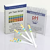 #2: Ouztca pH Test Strips 100ct - Universal Application Full Ph 1-14 Tests Body pH Levels for Alkaline & Acid levels Using Saliva and Urine