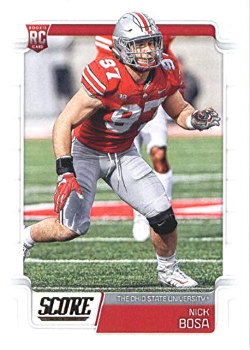 2019 Score Football #360 Nick Bosa Ohio State Buckeyes Rookie RC Official NFL Trading Card made by Panini