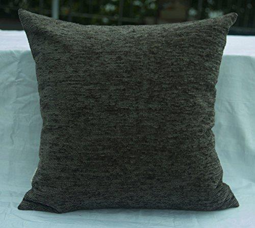 TangDepot Solid Velvet Soft Linen Decorative Handmade Throw Pillow Covers/Pillow Shams, Euro Sham, European Pillow Cover, Indoor/Outdoor Cushion Cover - (26
