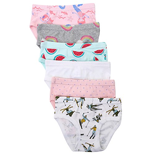 Benetia Toddler Underwear Girls 6-Soft Cotton Pack Size 3t 4t