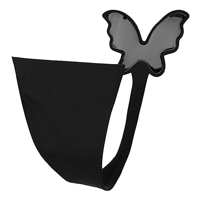023c874d3265 Freebily Women C-String Invisible Panty Self Adhesive Underwear Strapless  Thongs Panties Black Butterfly Shaped
