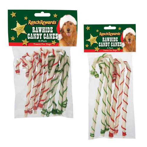 Ranch Rewards Holiday Candy Canes - Festive Treats for Dogs, 5