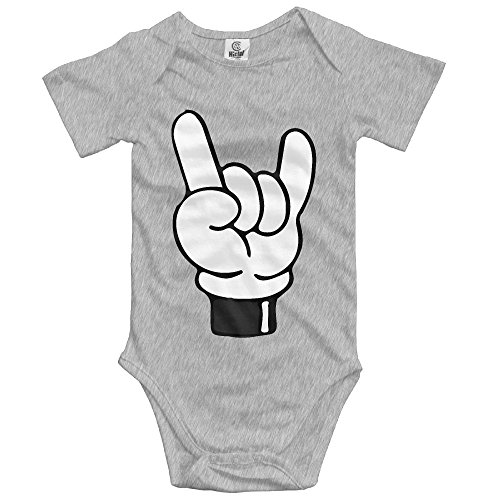 (ZGZGZ Finger Yeah Love Baby Cotton Short Sleeves Bodysuit Infant Creeper Jumpsuit Outfits)