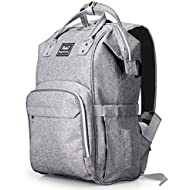 BabyX Diaper Bag Backpack with Multi-Function Waterproof Maternity Nappy Bags for Mom & Dad [Insulated Pocket] [Large Capacity] Travel Organizer Baby Care Changing Bag Durable and Stylish –Grey