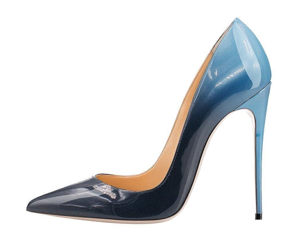 Kolnoo Kolnoo Kolnoo Damen Pumps Stilett High Heels Sptize Zehen Komfort Casual Bunte Fashion Lady Mehrfarbig Schuhe Größe 096ae0