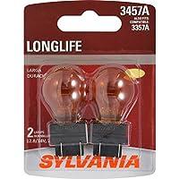 SYLVANIA 3357A/3457A Amber Long Life Miniature Bulb, (Contains 2 Bulbs)