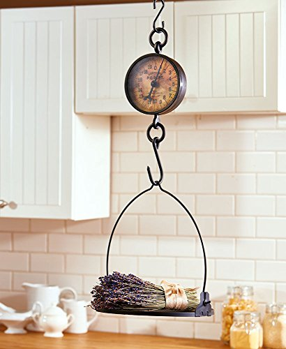 Lunanice Vintage Look Decorative Antiqued Farmhouse Scale Rustic Hanging Kitchen home or garden Decor