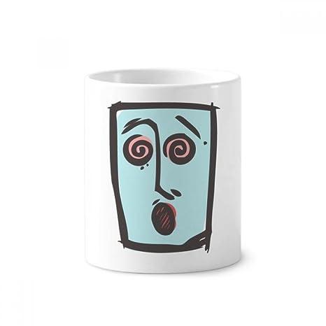 DIYthinker Titular de cerámica mareos abstracta de la cara Boceto Emoji taza del cepillo de dientes