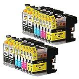 Ink & Toner Geek 16 Pack Compatible Inkjet Cartridges for LC-101 LC-103 LC-103 XL Brother DCP-J132W DCP-J152W DCP-J172W DCP-J4110DW DCP-J552DW DCP-J752DW MFC-J245 MFC-J285DW MFC-J4310DW MFC-J4410DW
