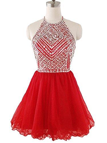 Ysmo - Vestido - Noche - para mujer rojo rosso 46