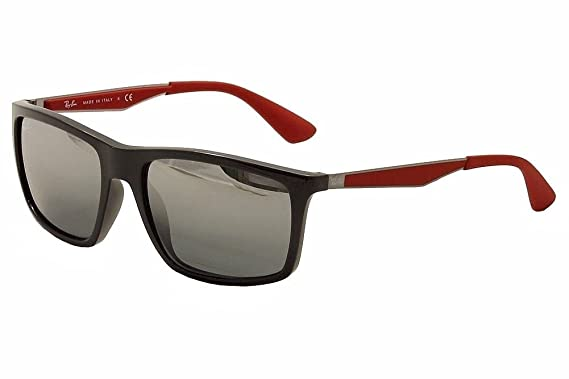 a111021493 Image Unavailable. Image not available for. Color  rb Ray Ban Men s RB4228  RB 4228 RayBan 6185 88 Grey Gunmetal Red