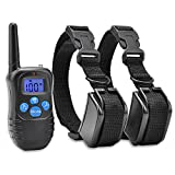 Commart Electric Vibra Remote 2Dog Shock Pet Training Collar Waterproof Rechargeable LCD Shipping From US