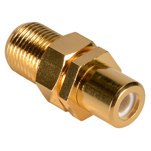 Parts Express Gold RCA Female To F Female with Nut Hex Type by Parts Express