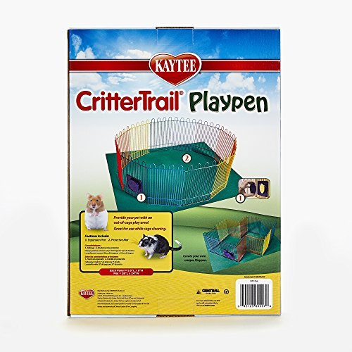 Kaytee-CritterTrail-Playpen-with-Mat