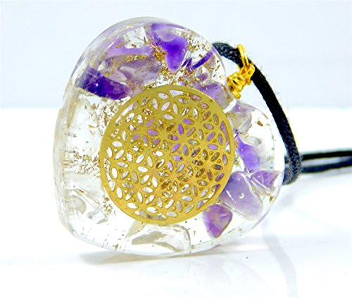 Orgone Necklace Amethyst Crystals Flame product image