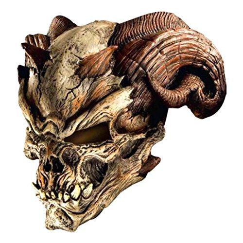 Halloween Cave Demon Mask Skull Skeleton Latex Scary Adult Costume Accessory ()