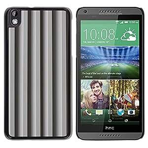 TopCaseStore / la caja del caucho duro de la cubierta de protección de la piel - Gray Lines Shadow Pattern - HTC DESIRE 816