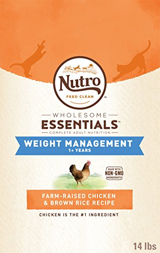 Nutro Weight Management Adult Dry Cat Food Chicken 14 lb. (Brown Rice Weight)