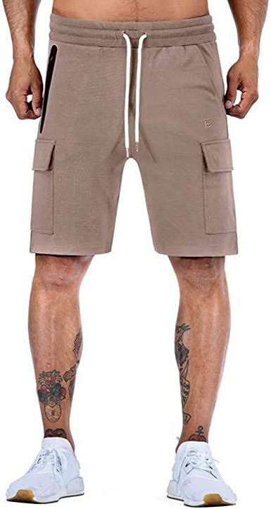Amazon.com: MODOQO Men's Shorts, Casual Solid Flat Front with Pocket  Outdoor Gym Fitness Sports Pants Jogging: Clothing