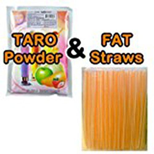 1 LB TARO smoothie powder with Fat Straws