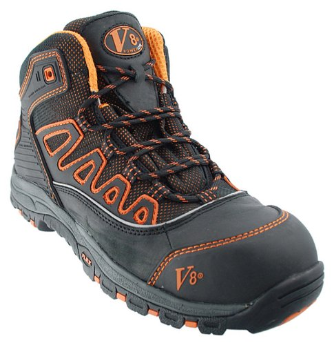 V-Tech Adult V8430 Aztec Safety Boots 4 UK Orange / Black