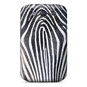 Slim Fit Tpu Protector Shock Absorbent Bumper Zebra Lines Case For Galaxy S3