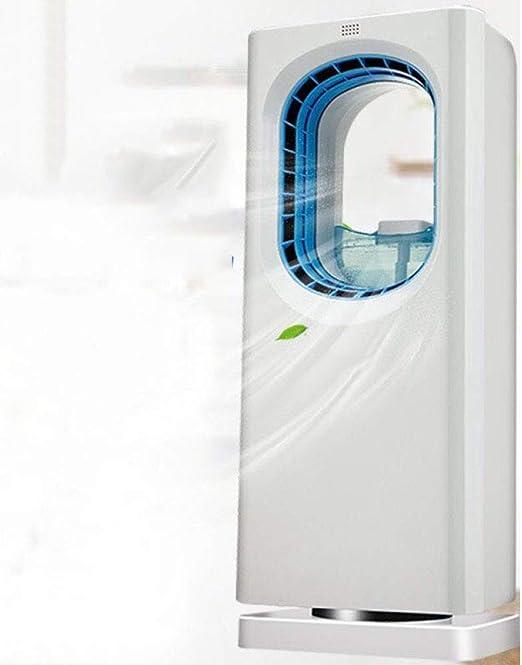 SSLL Ventilador De Torre Purificador De Aire Fresco Y Portátil,Ventilador De Torre Frío Sin Cuchillas,Control Remoto De Ventilador De Escritorio, Anti-Mosquito, Humidificación, Purificación De Aire: Amazon.es: Jardín