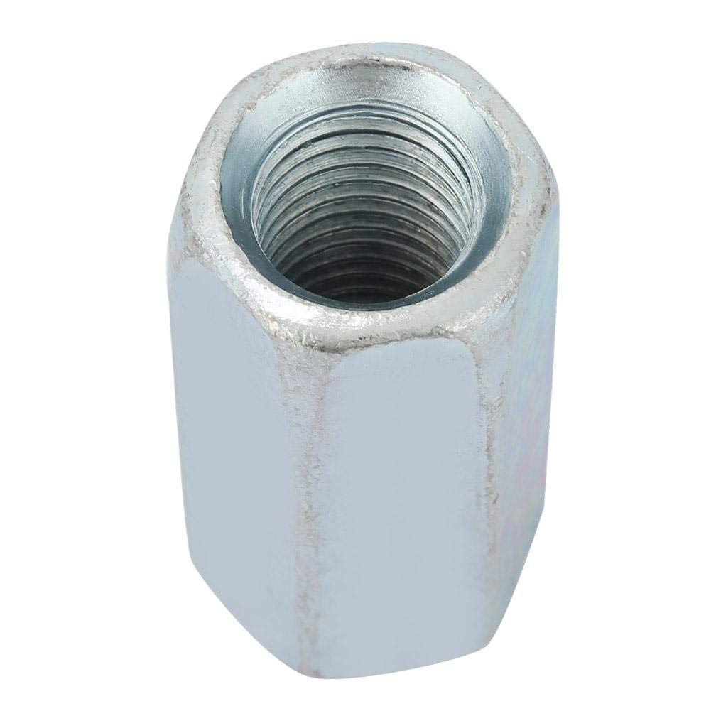 Long Rod Nut Carbon Steel Hex Hexagonal Sleeve Nut Threaded for Home Office Appliance