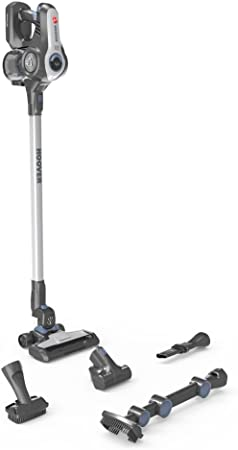 Hoover Rhapsody RA22ALG, Aspiradora escoba sin cables, Antialergias, Cepillo pelo de mascota, suelos duros, Batería de litio extraíble 22V, 35min, Depósito 0,7L, H-Spin Core, Luces Led, Gris: Hoover: Amazon.es: Hogar